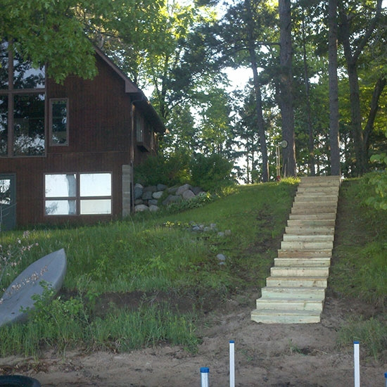 Landscaping -stairs