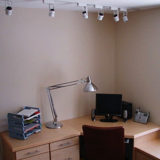 Office - sheet rock, painting & lighting