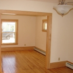 Living room - hardwood flooring, lighting, trim work & painting