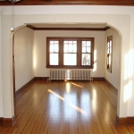 Living room - hardwood flooring, painting & trim work