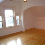 Living room - hardwood floors, trim work & painting