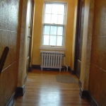 Entry way - hardwood flooring & painting
