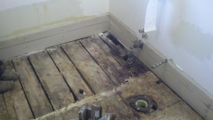 Diy how to install tile floor in a bathroom home - How to replace subfloor in bathroom ...
