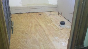 how to install tile - plywood subfloor